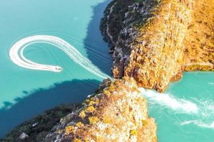 澳大利亚 natural wonders: Horizontal Falls Western 澳大利亚