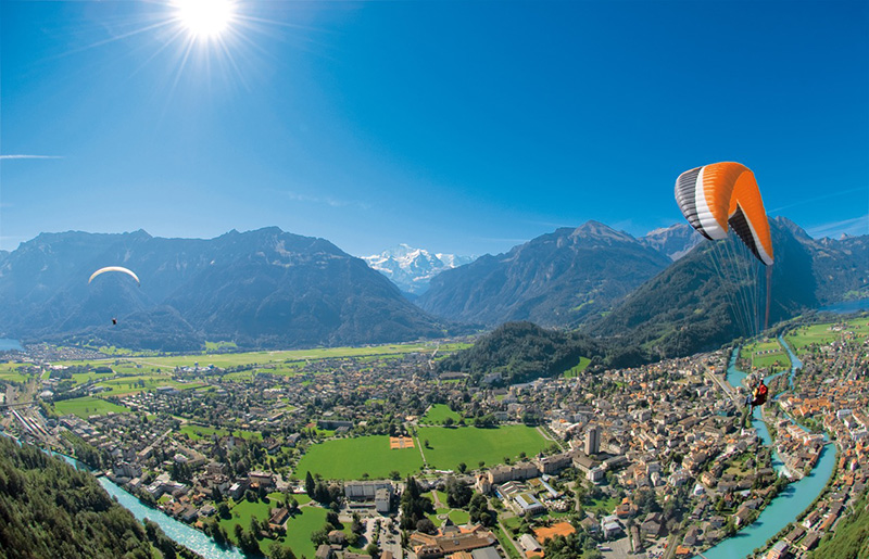 Interlaken-Parasail-Switzerland-Tourism