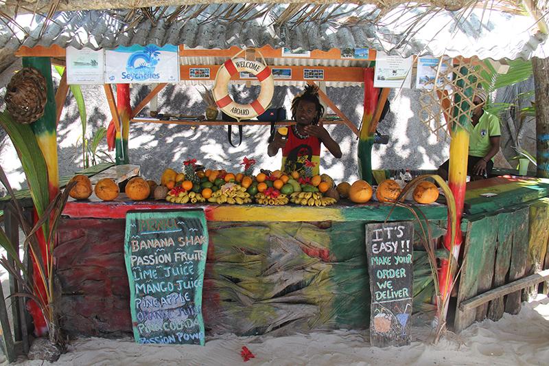 fruit juice, Source D'Argent, Seychelles