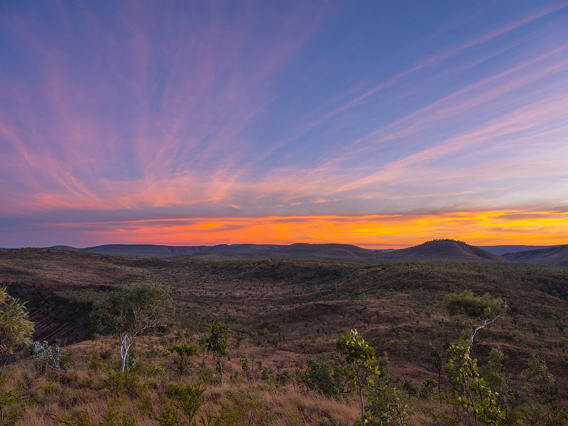Kimberley, Western Australia, El Questo, sunset