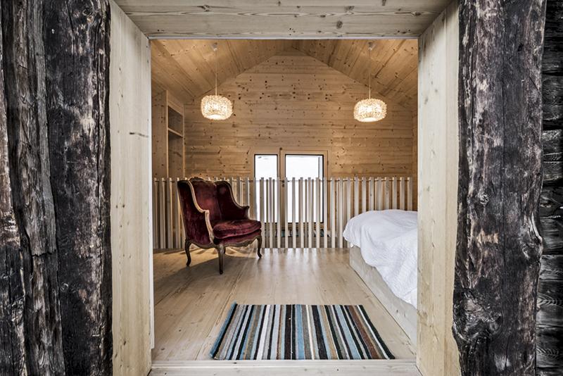 Switzerland, alpine hut, mountain style, snow