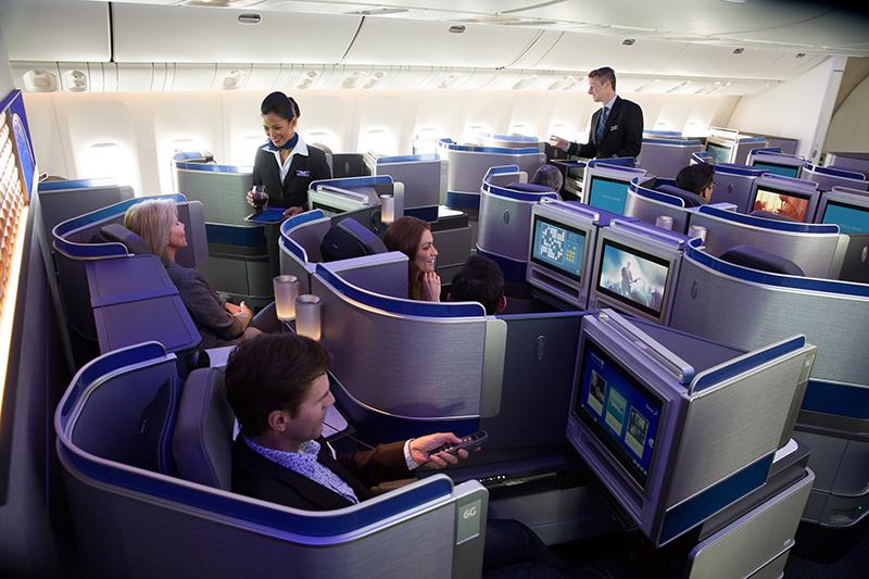 Polaris Business Class, United Airlines