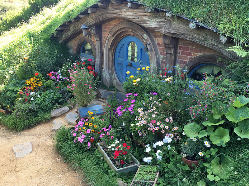 Blue door, Hobbiton, New Zealand