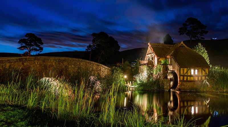 Night time, Hobbiton, New Zealand
