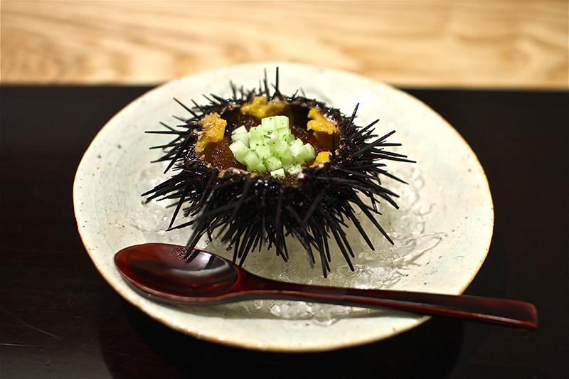 Sea Urchin dish, Kohaku restaurant, Tokyo, Japan