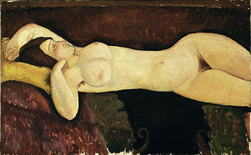 Reclining Nude 1919, Modigliani, Tate Modern, London, UK