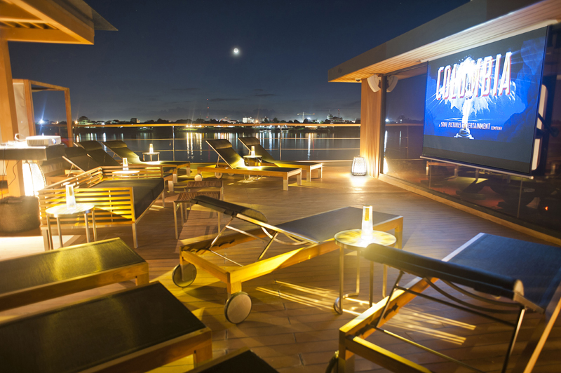 Aqua Expeditions, Aqua Mekong, Outdoor Cinema