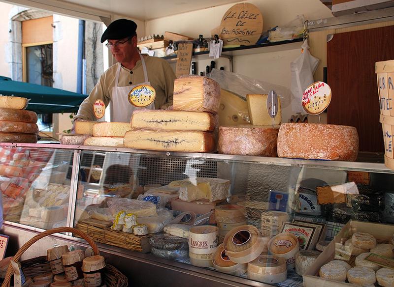 Noyers-sur-Serein, French market, Northern Burgundy, France
