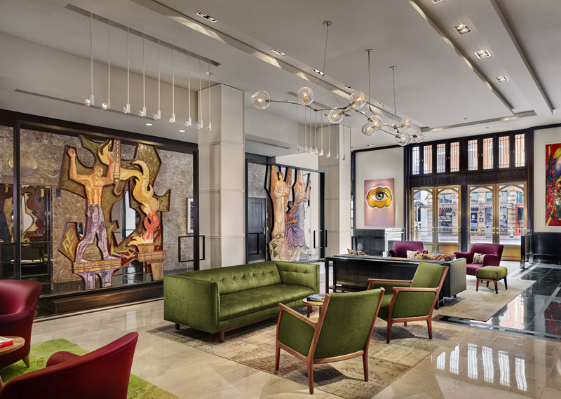 Lobby, The Joule, luxury hotel, Dallas, Texas