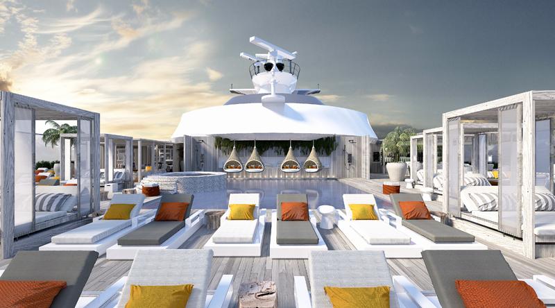 Sun deck, Celebrity Edge, cruise