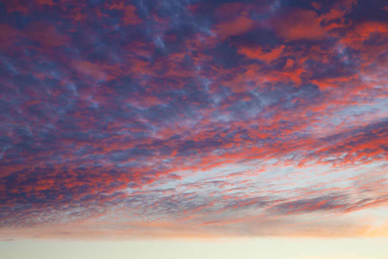 sunset, Chile, clouds