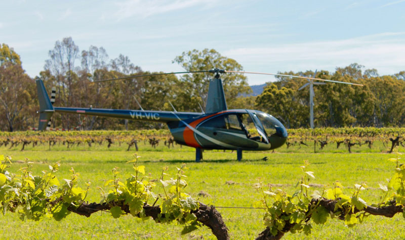 The 2017 Seriously Shiraz festival , Grampians Helicopters