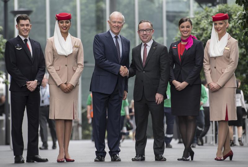 Qantas, Emirates, flight, plane