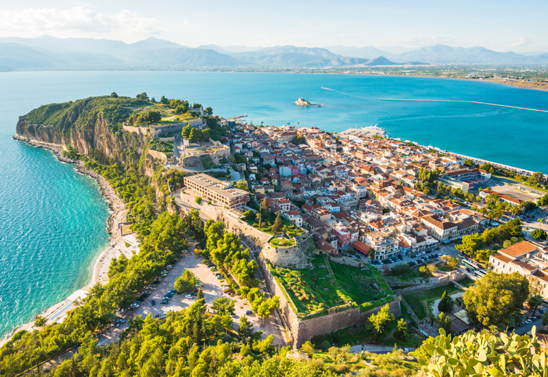Nauplion city, Greece, port, cruise