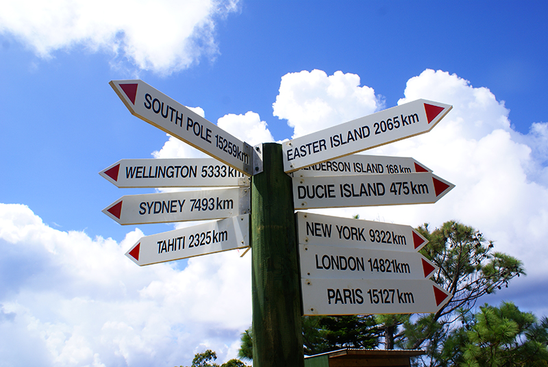 Pitcairn, Aranui Cruises, sign