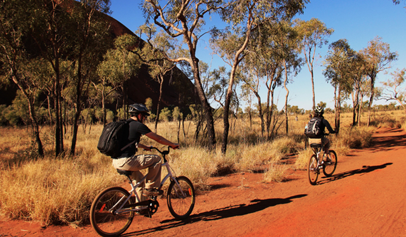 Cycling, Uluru, Northern Territory, Australia
