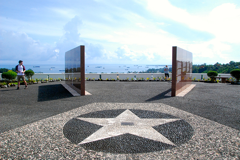 The Solomon Islands Peace Park at Honiara overlooks the Gaudalcanal