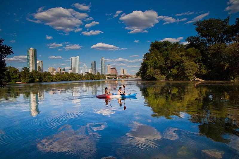 Kayaking, Austin, Texas