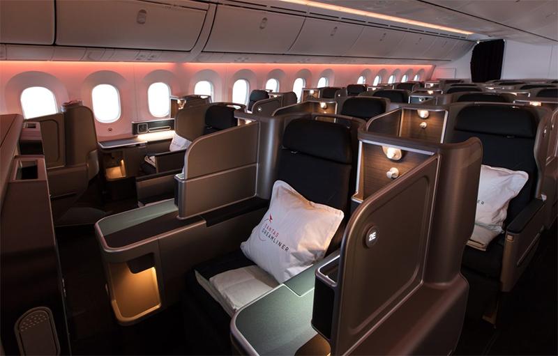 Business class, Qantas Dreamliner