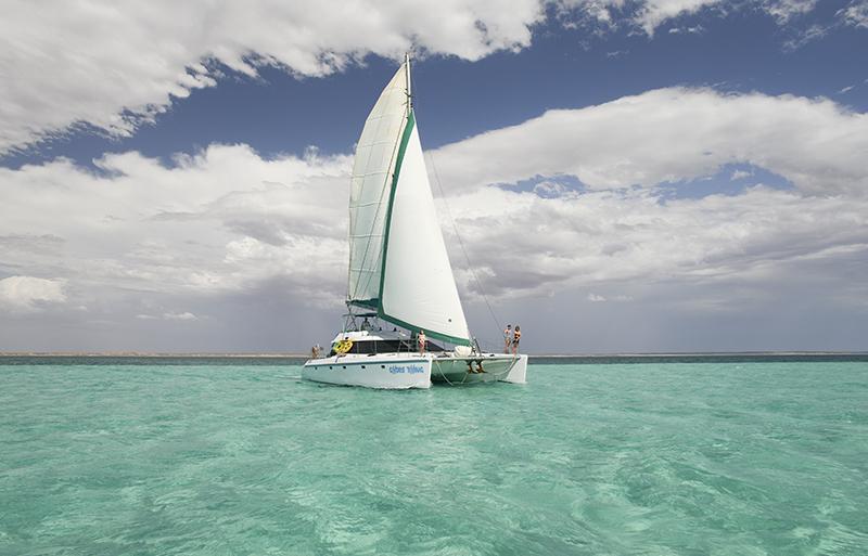 Ningaloo Reef, Western Australia, sailing