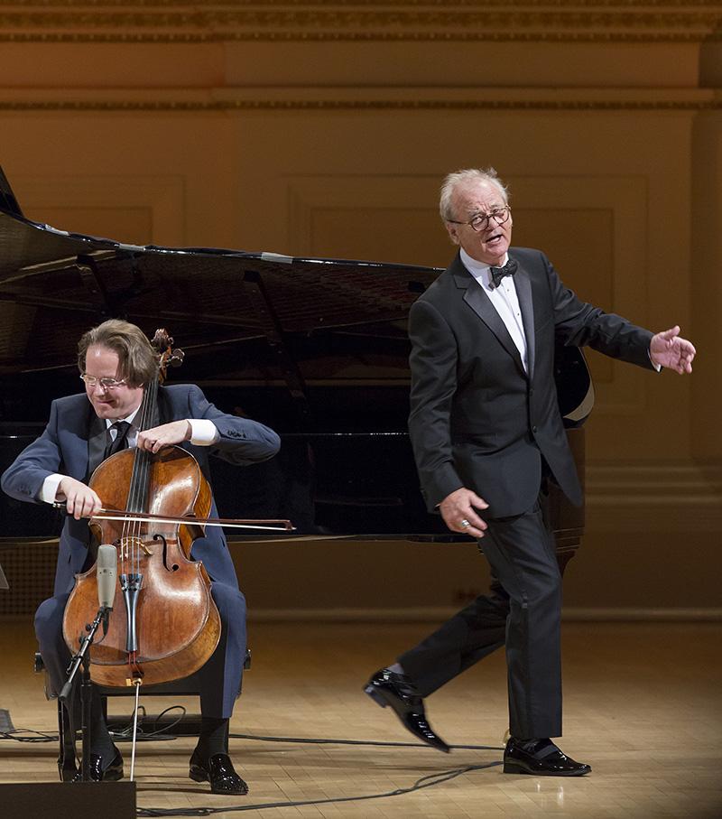 Bill Murray & Jan Vogler at Carnegie Hall