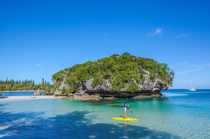 Stand-up paddle boarding, New Caledonia