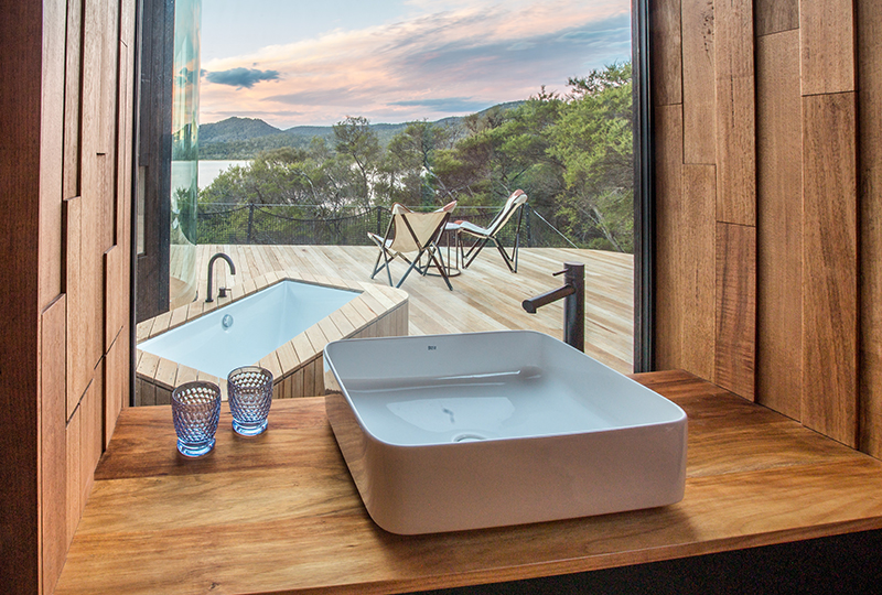 The new Coastal Pavilions at Freycinet Lodge