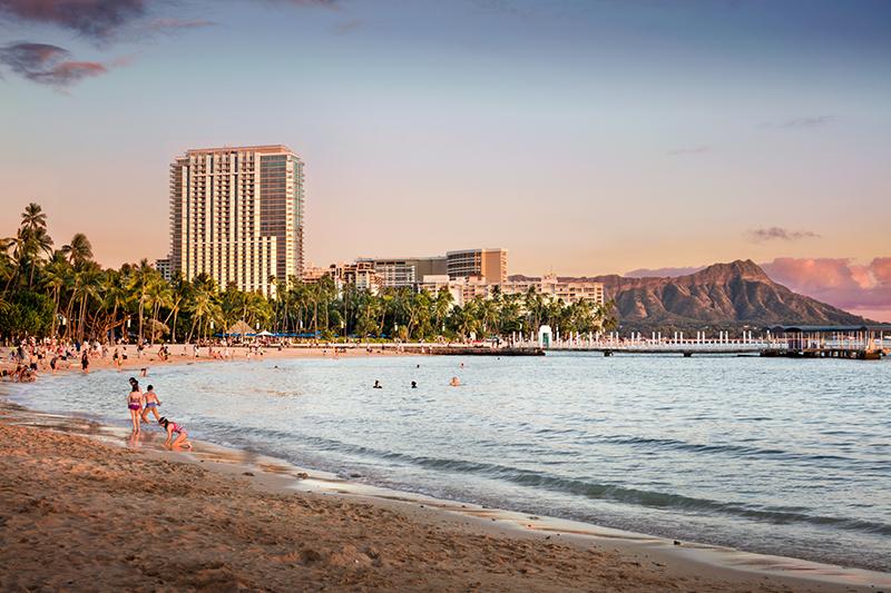 Waikiki Beach, Trump International Hotel Waikiki, Hawaii