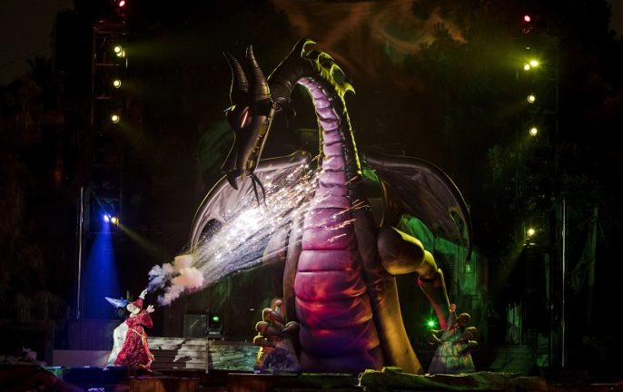Disneyland, California, Fantasmic, Mickey Mouse