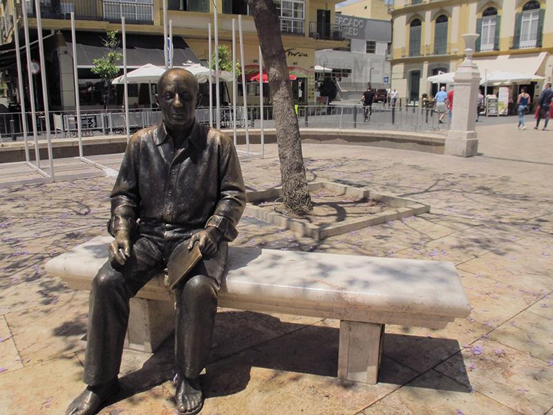 Picasso, Malaga, Spain, Picasso statue