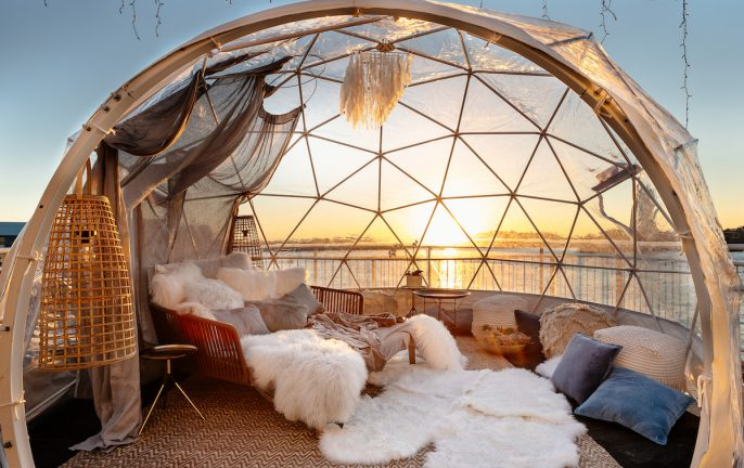 Pier One Sydney Harbour Winter Igloos
