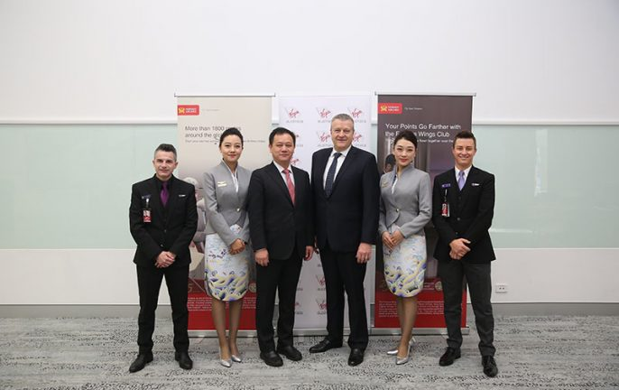 Hainan Airlines, Virgin Australia, codeshare agreement