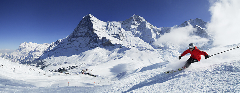 Jungfrau Region, skiing, Switzerland