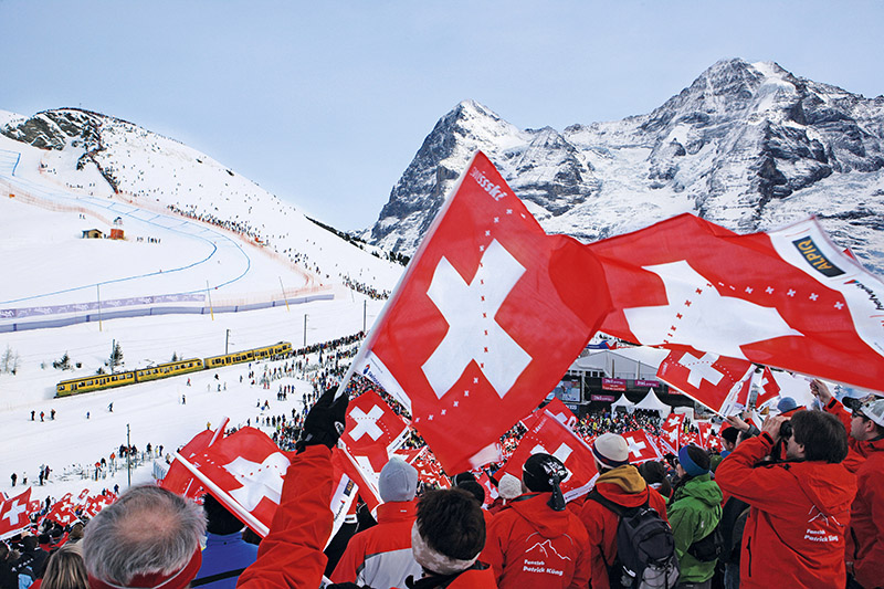 Switzerland, Lauberhorn ski race