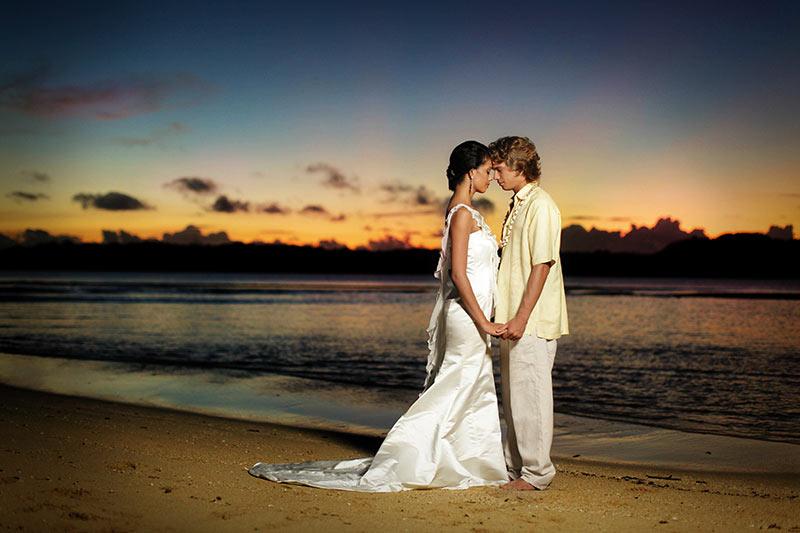 Vanua Levu, Fiji, elope, Shangri-La's Fijian Resort & Spa, romantic getaway, Island wedding, wedding planners, paradise bride, Paradise Bride, Shangrila, sunset, Nukubati, Likuliku