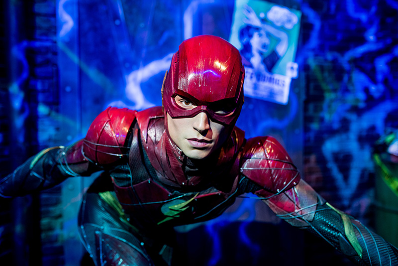 Ezra Miller, The Flash, Justice League, Madame Tussauds Sydney, Justice League: A Call for Heroes