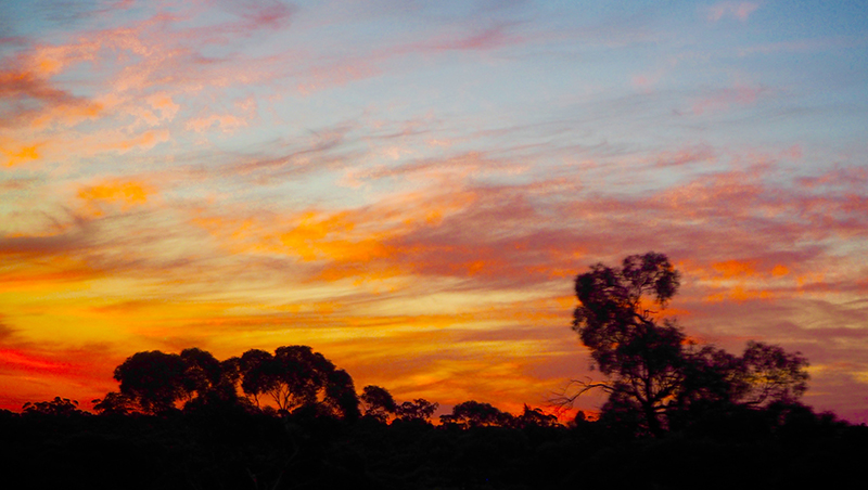 Sunset, Indian Pacific