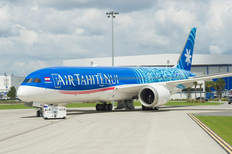 Dreamliner, Air Tahiti Nui, Flight paths, New aircraft, Boeing