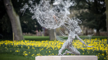 fairies in the garden, reasons to visit Trentham Estate, Trentham Gardens, Artist Robin Wight, Artist Amy Wight, Giant dandelions, Find Fairies in the garden, romantic ruins, Capability Brown, Trentham Hall, Trentham Gardens