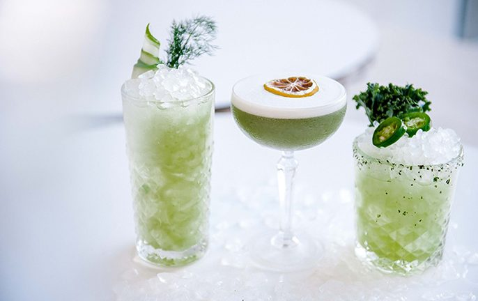 QT Hotel Green Cocktails