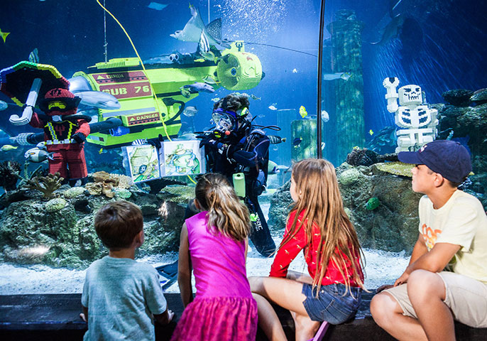 A new LEGO-themed aquarium opens in Malaysia