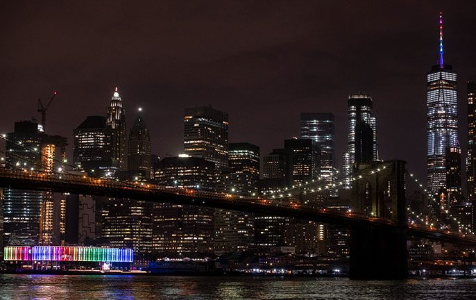 New York City's skyline turns rainbow in June