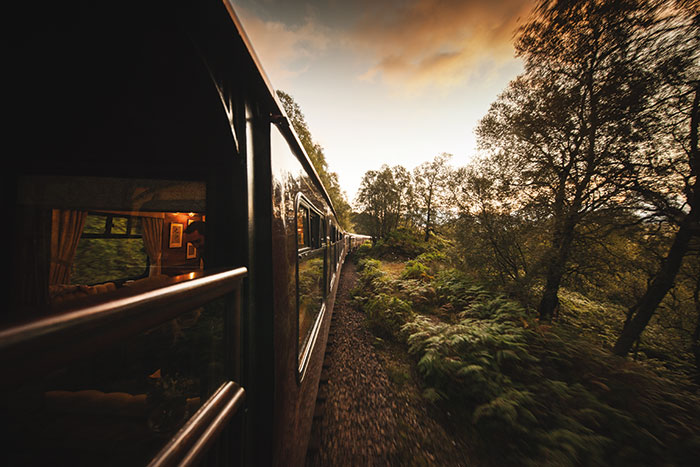 The Royal Scotsman: luxury training in Scotland