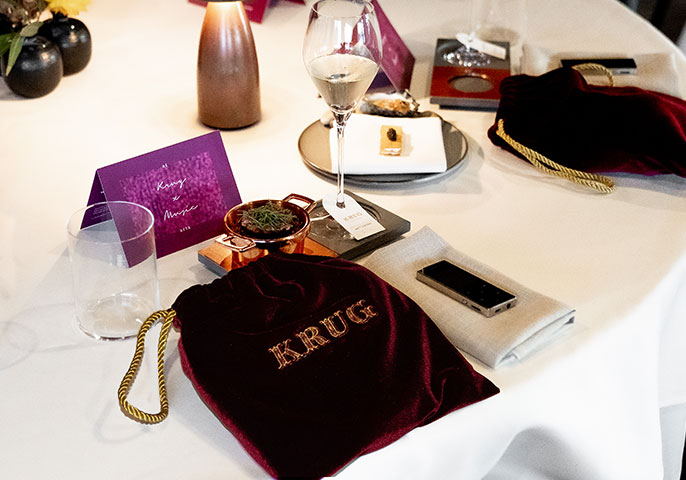 Aria x Krug team up for sensory dining experience