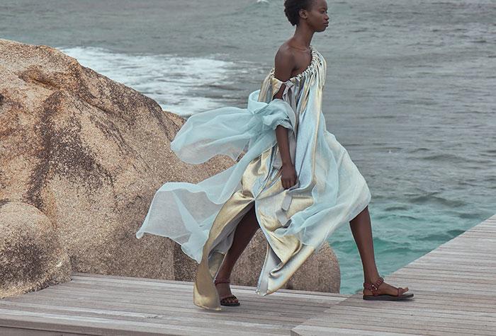 By the Seashore: Seychelles Fashion: SS20 Carl Kapp_Image by Julia Balla