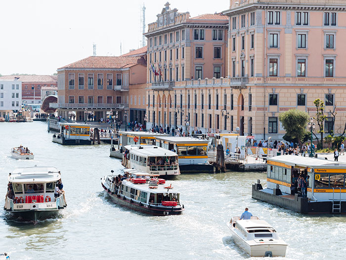 Take the pressure down: Crowded Venice canal boats. Image: Intrepid Travel
