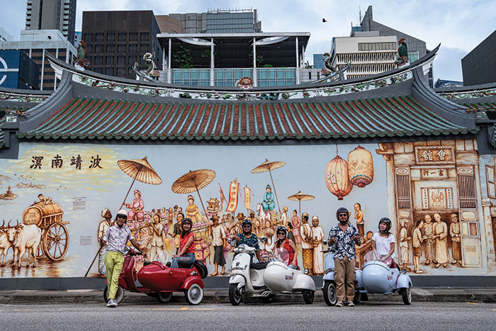 Singapore spin: Outside Thian Hock Keng Temple in Chinatown. Image: Leigh Griffiths
