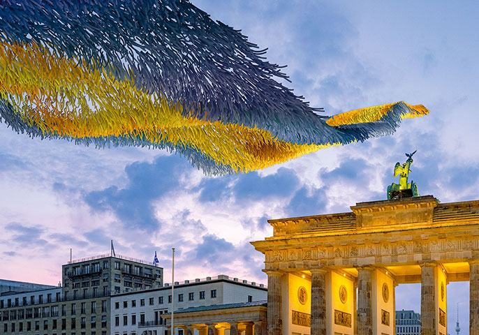 © Kunstinstallation Patrick Shearn of Poetic Kinetics, kuratiert von Kulturprojekte Berlin