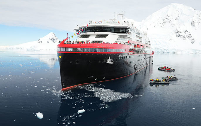 The world's most innovative cruise ship is formally named in Antarctica