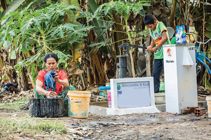 Cambodia water well project